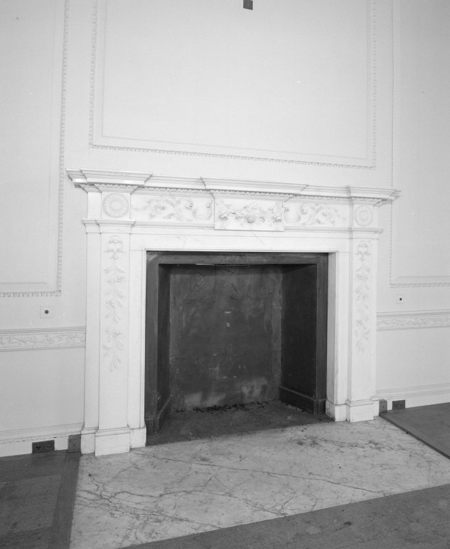 Interior, detail of drawing room fireplace