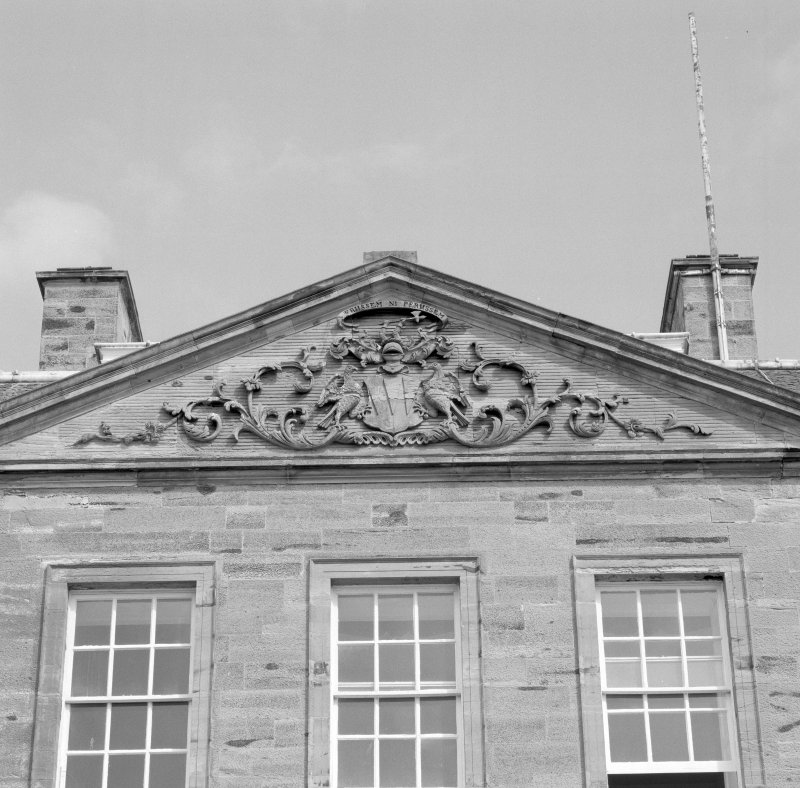 Detail of W front pediment