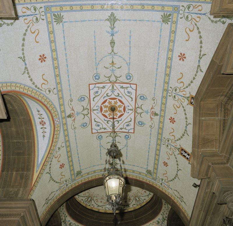 Interior. Ground floor entrance hall ceiling