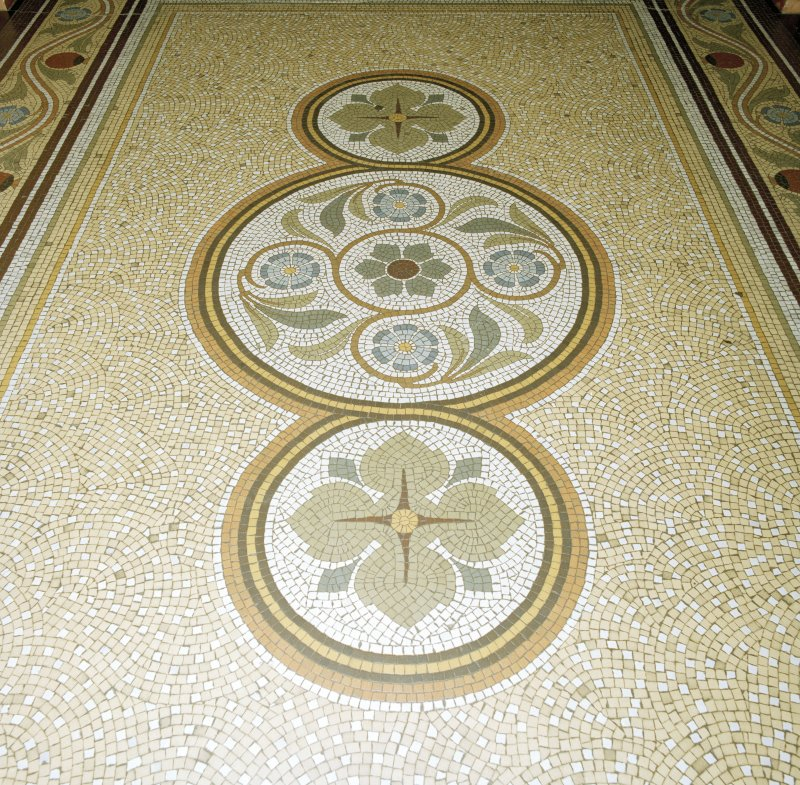 Interior. Ground floor entrance hall floor