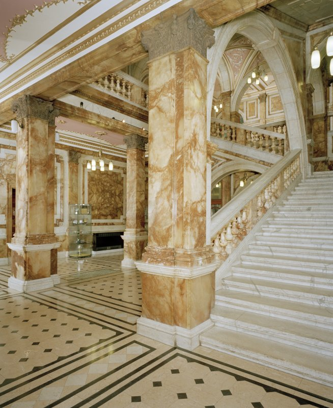 Interior. Ground floor Marble Staircase