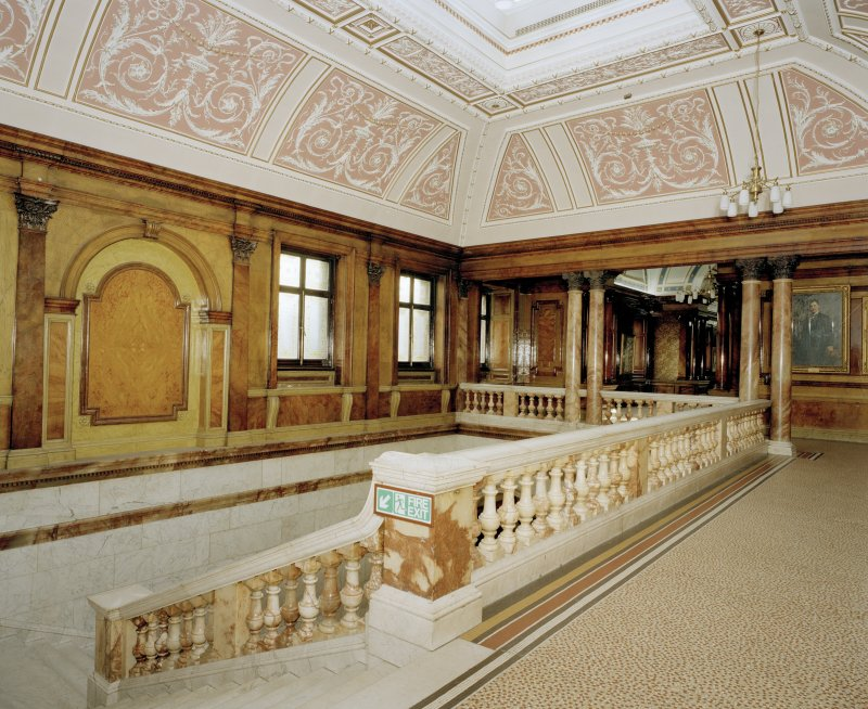 Interior. Third floor landing Marble Staircase
