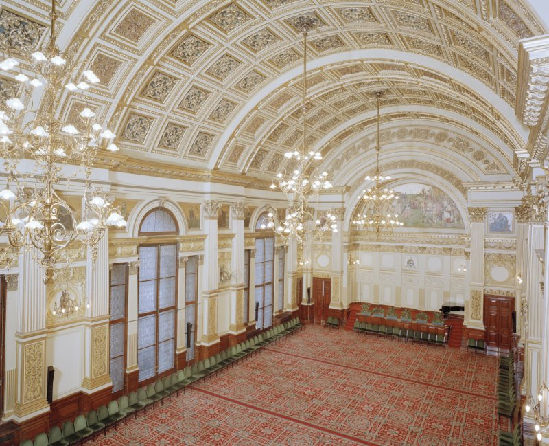 Interior. Second Floor Banqueting Hall from South West