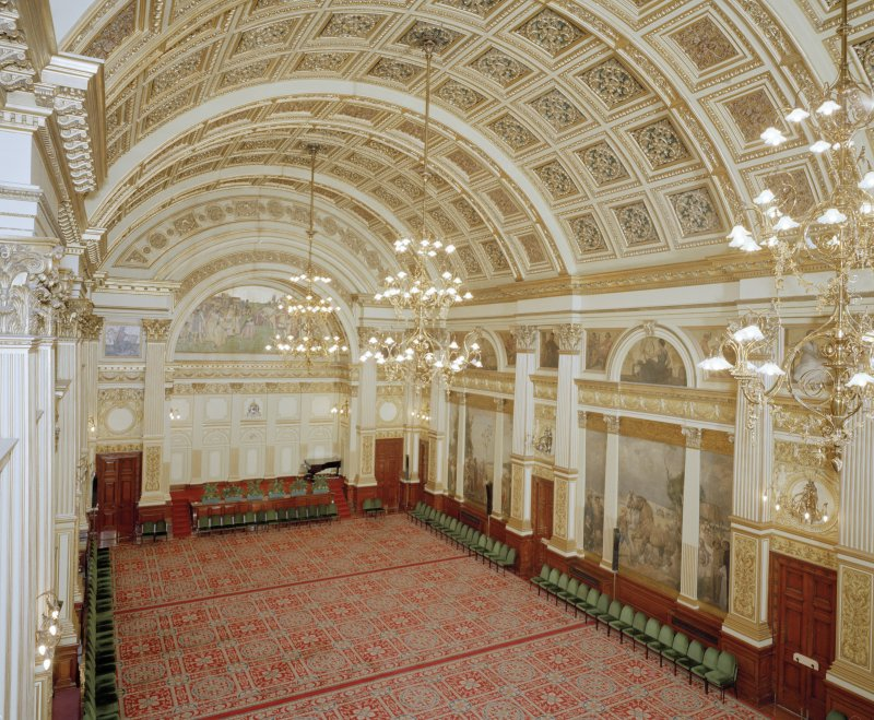 Interior. Second Floor Banqueting Hall from North West