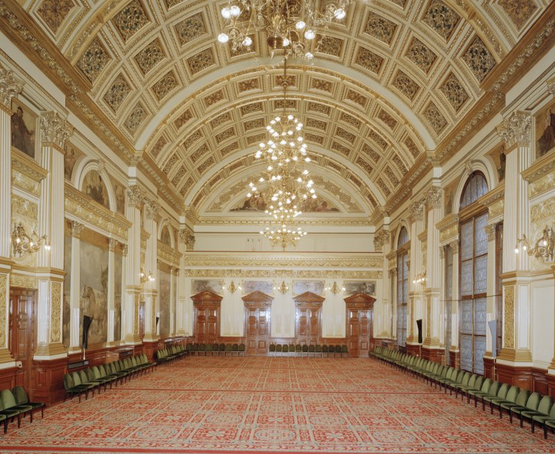 Interior. Second Floor Banqueting Hall from East