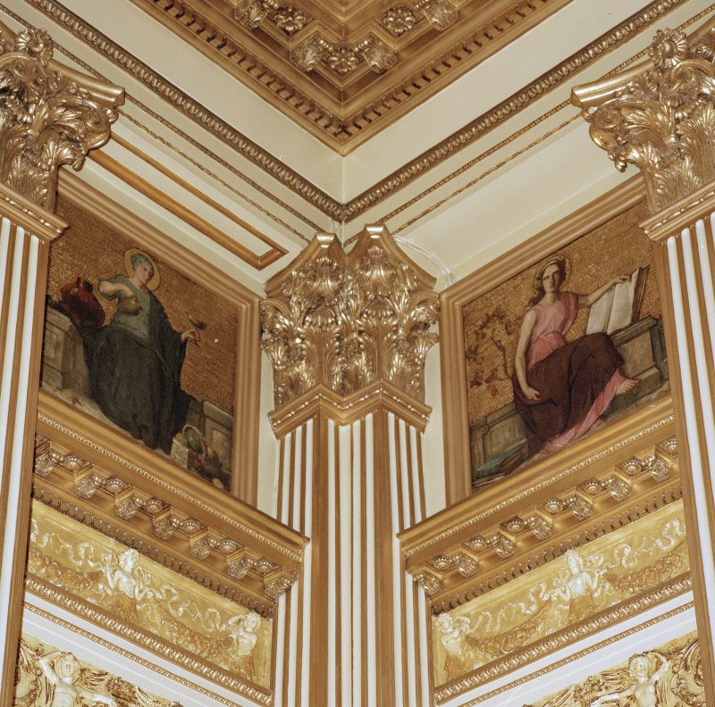 "Interior. Second Floor Banqueting Hall, ""VIRTUES"" murals by A Walker"