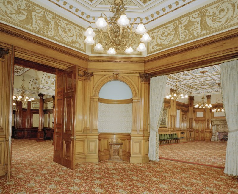 Interior. Second Floor Octagonal Salon