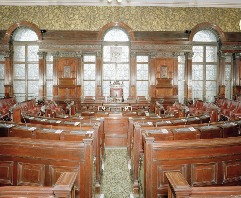 Interior. Second Floor Council Chamber from East