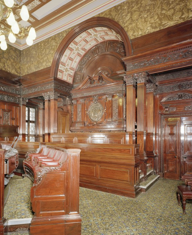 Interior. Second Floor Council Chamber, Press Bench