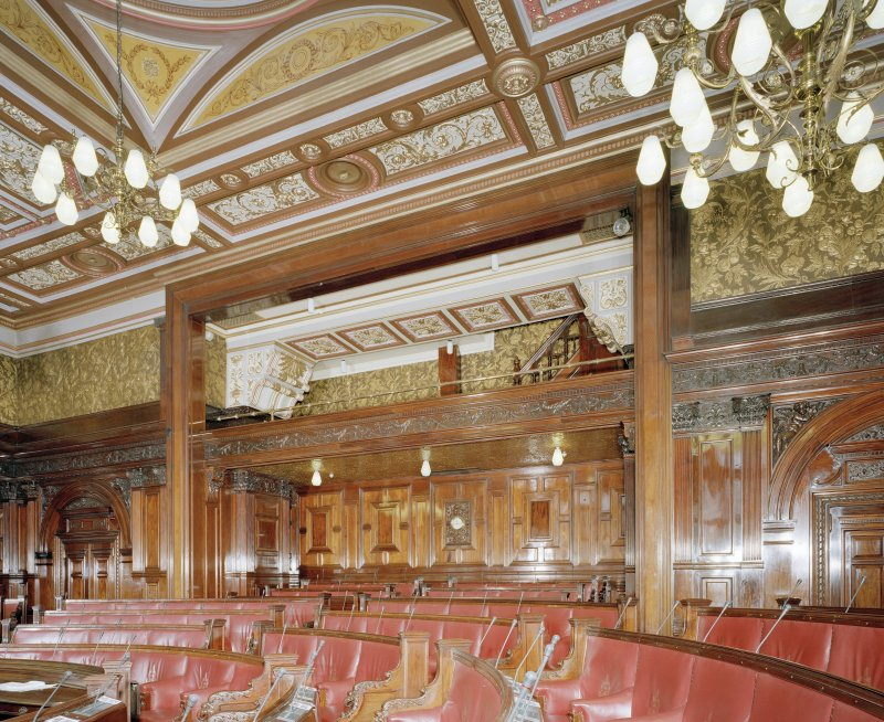 Interior. Second Floor Council Chamber, Public Gallery