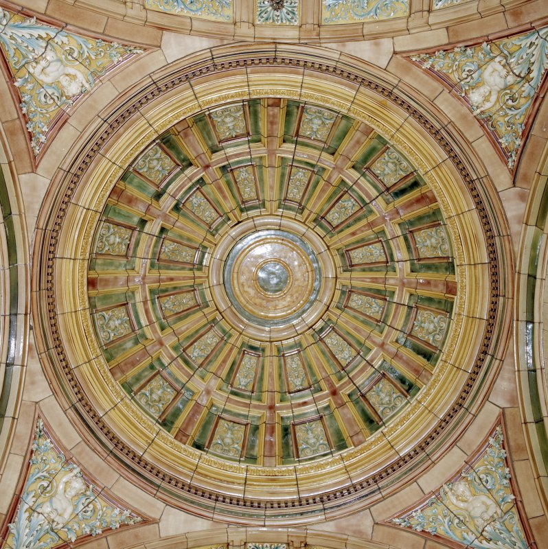 Interior. Second Floor Councillor`s Corridor, ceiling dome