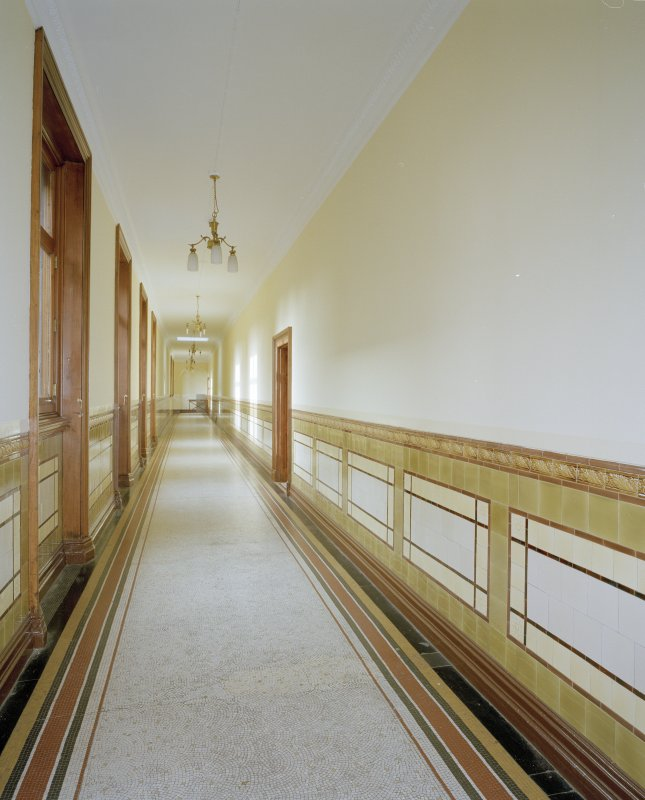 Interior. Third floor North corridor