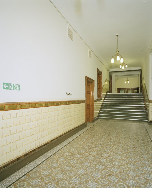 Interior. First floor South corridor