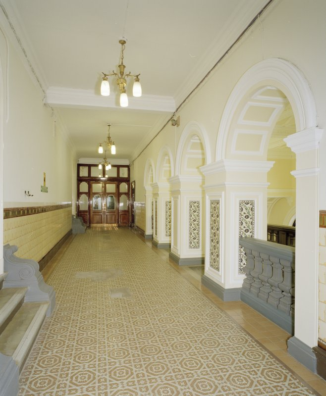 Interior. First floor East corridor