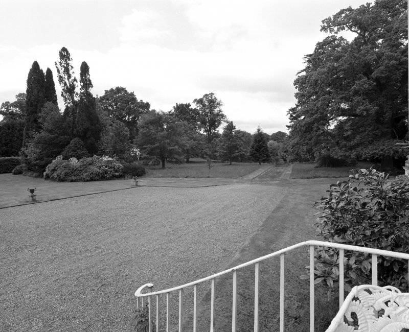 View of S gardens and drive from NW