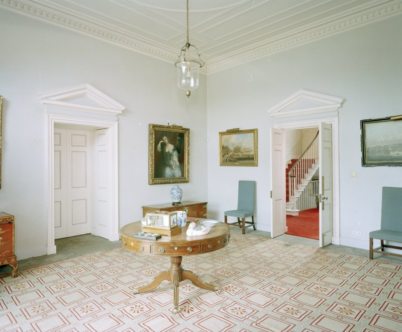 Interior. View of entrance hall from SE
