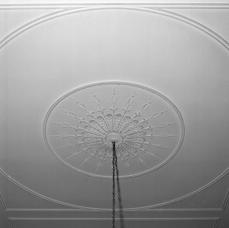 Interior. Detail of entrance hall ceiling rose