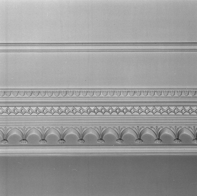 Interior. Detail of entrance hall cornice