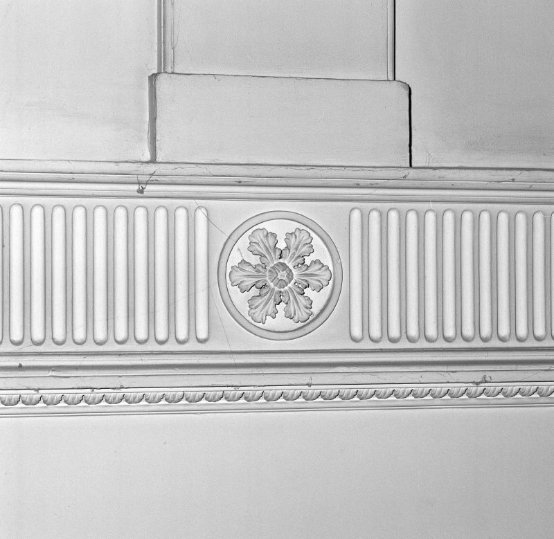 Interior. Detail of stair hall plasterwork