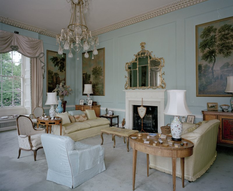 Interior. View of ground floor drawing room from SE