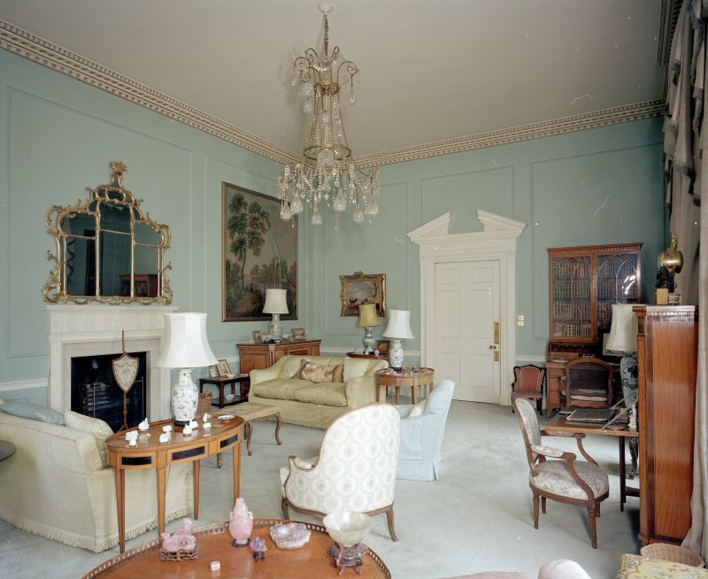 Interior. View of ground floor drawing room from WSW