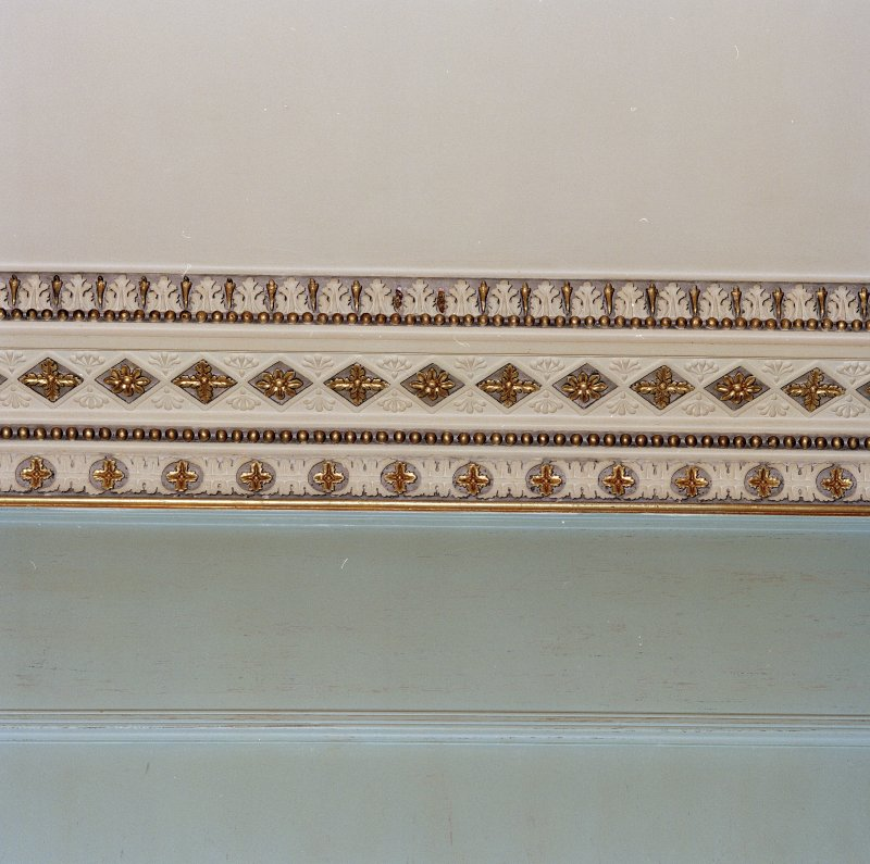 Interior. Detail of drawing room cornice
