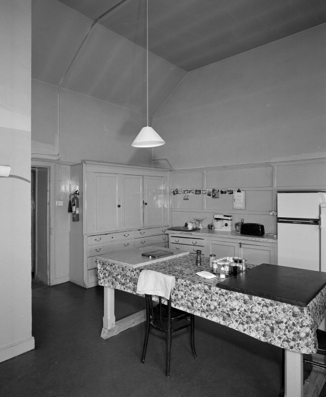 Interior. View of basement kitchen from SE
