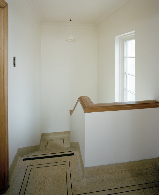 Interior. Stair from NW