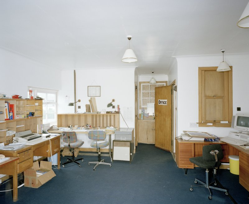Interior. First floor office from SE