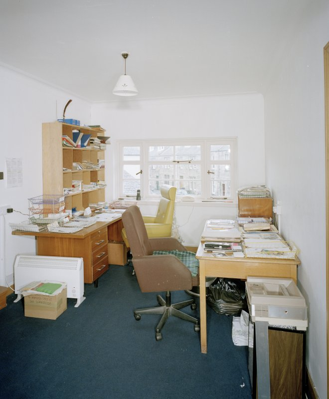 Interior. First floor office from NW