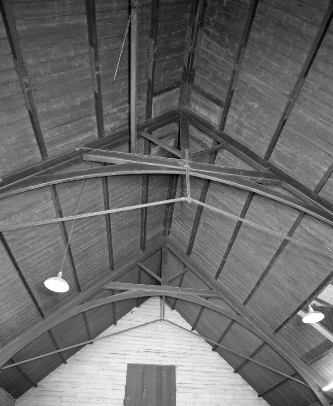 Interior. Detail of main warehouse original sanctuary roof structure