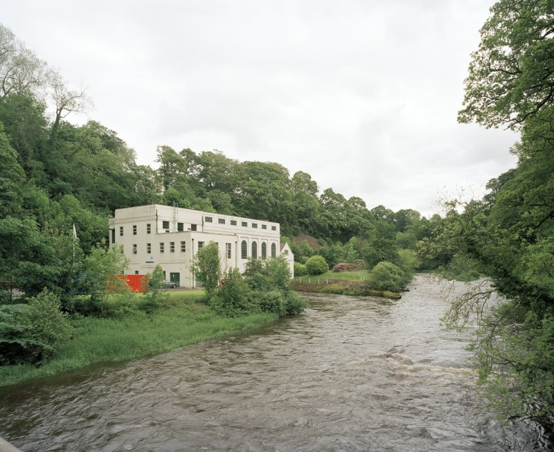 General view of Stonebyres hydroelectric power station from WNW