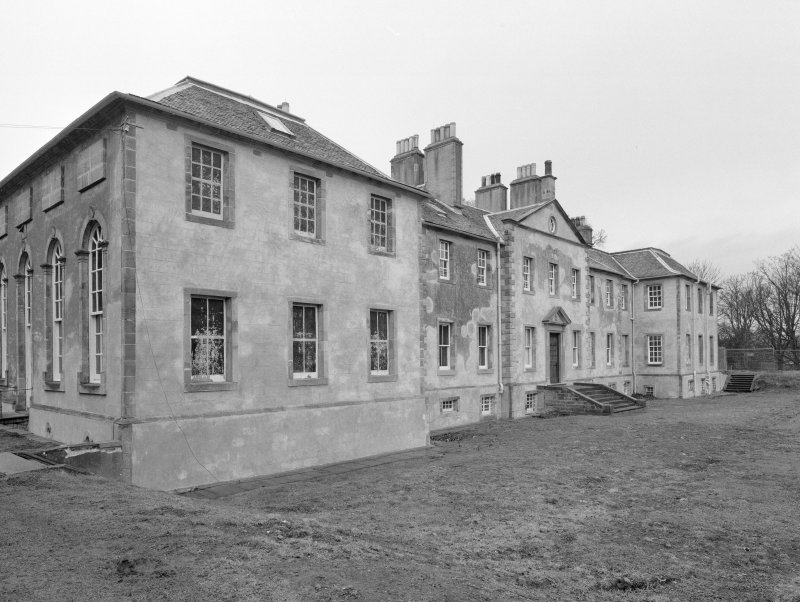View of rear elevation from W
