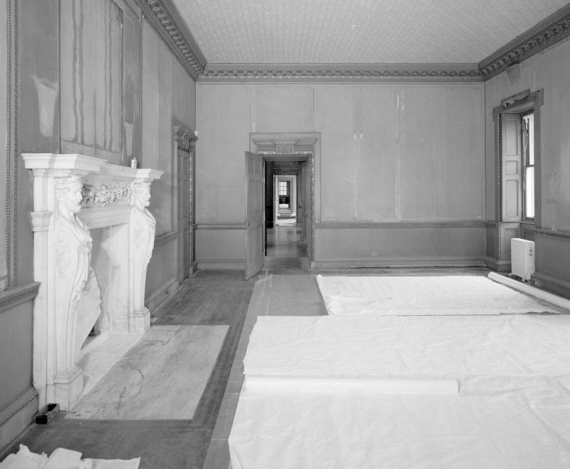 Interior. Principal floor. drawing room. View from NW showing enfilade through to library