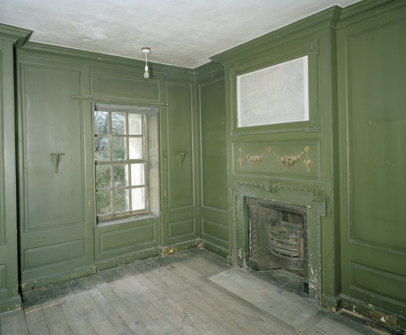 Interior. 1st floor. View of alcove dressing room from E
