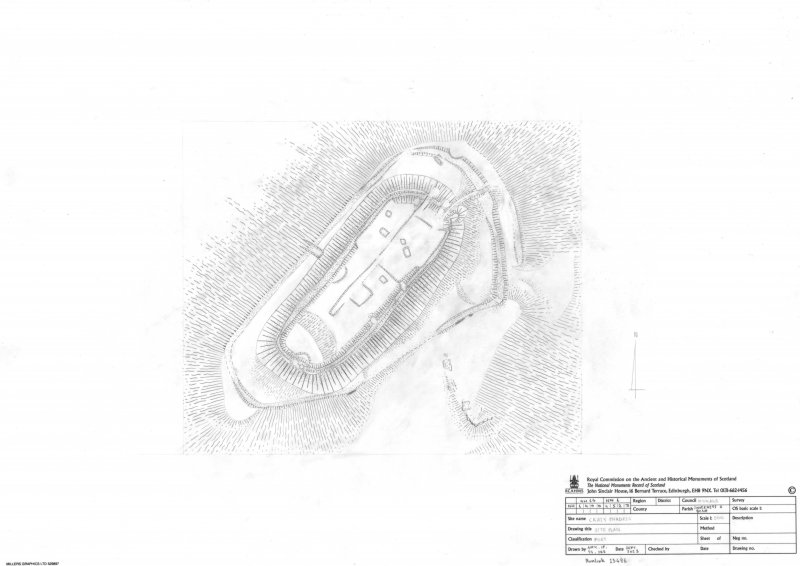 Craig Phadrig fort, survey drawing