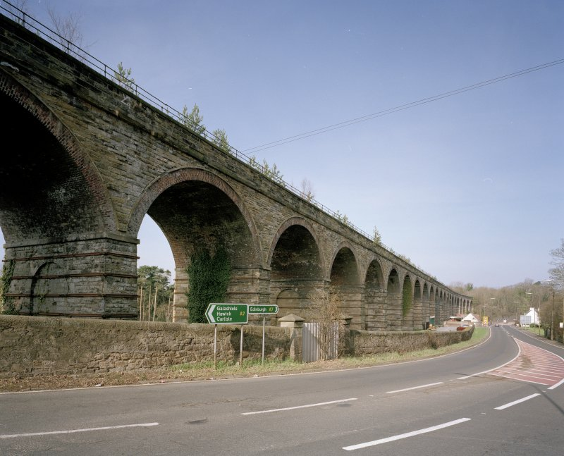 General view from E of NE side of viaduct