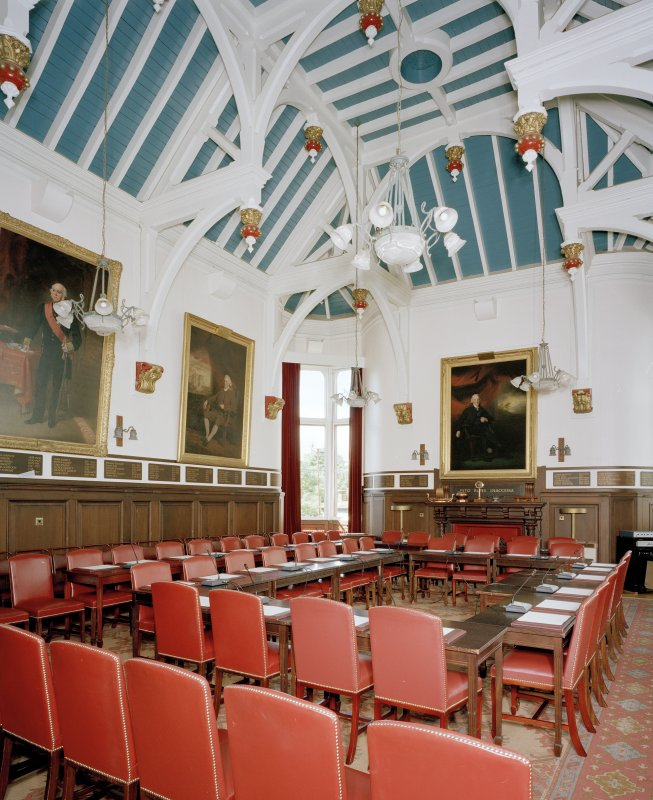 Interior. View of first floor Council Chamber from East