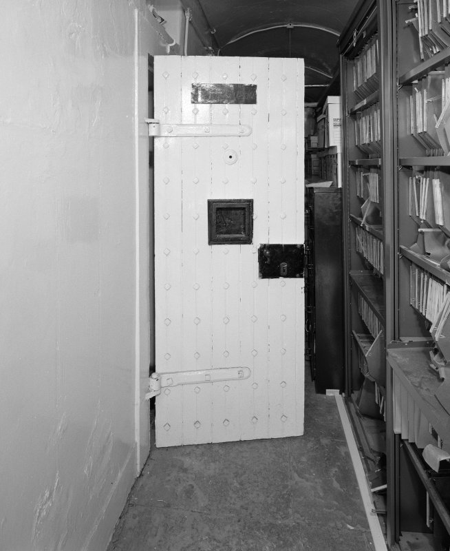 Interior. Detail of cell door