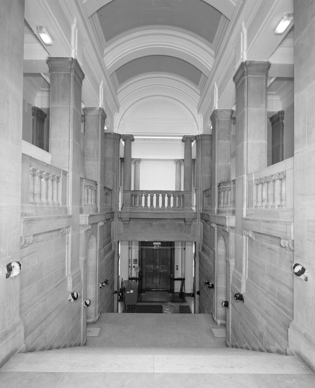 Interior. View of principal staircase looking north towards entrance