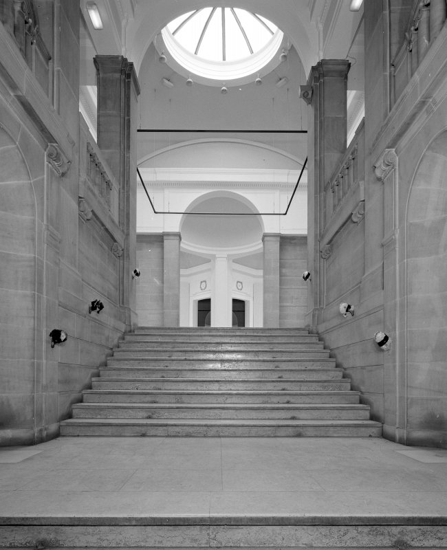 Interior. View of principal staircase looking south towards galleries
