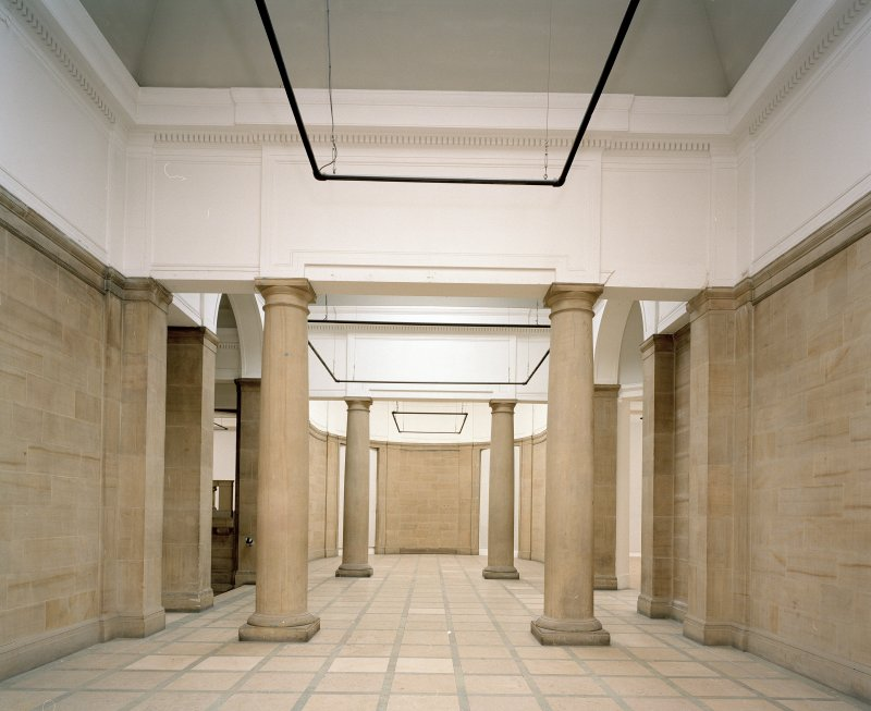 Interior. View of Sculpture Court from West