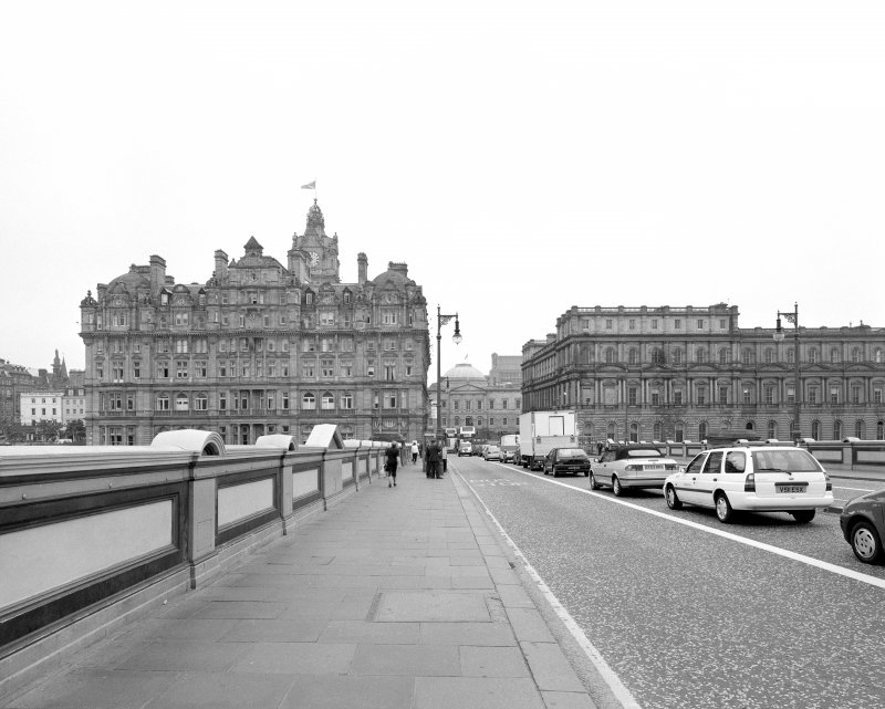 View from North Bridge showing The General Post Office, Register House and The Balmoral hotel