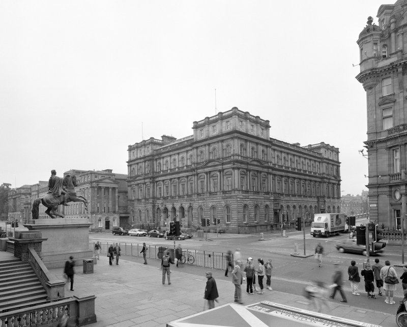 View from Northwest showing The General Post Office, Waterloo Place and The Balmoral Hotel