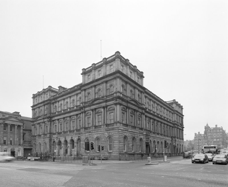 View from Northwest showing North and West facades