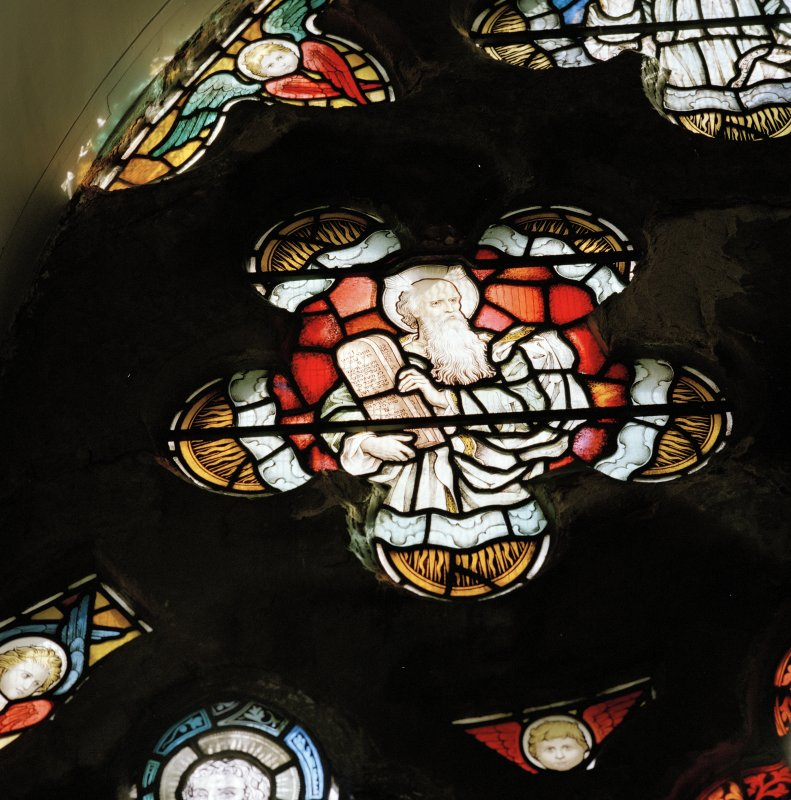 Detail of stained glass window by Ballantine & Gardiner of Edinburgh (1905)
