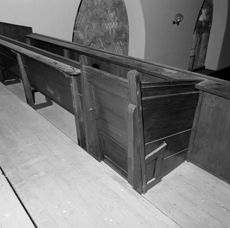 Detail of gallery pew