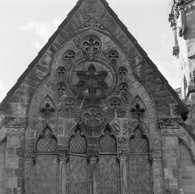 Detail of E window complex tracery.