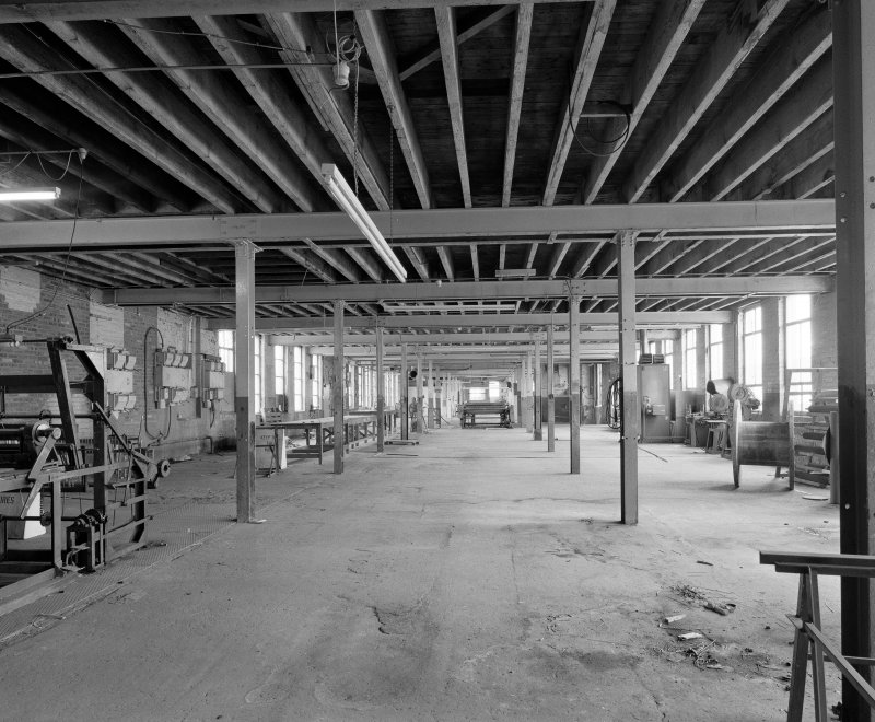 Interior. View on upper floor of original two-storeyed block of the factory