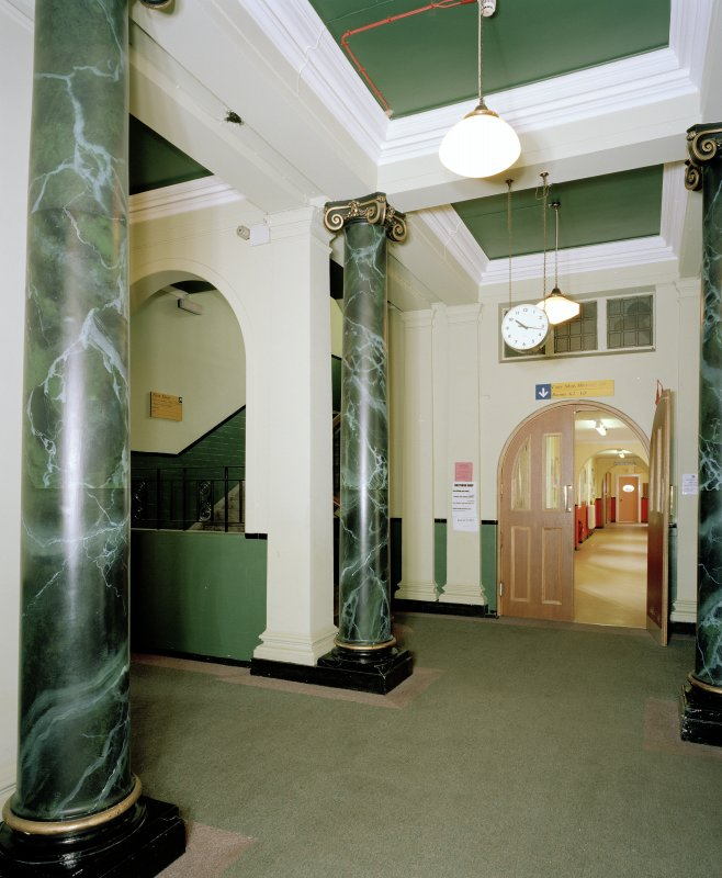 Thomsons Land. Interior, view of entrance hall from North
